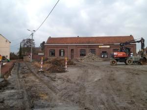 De werken in centrum Pede zijn van start gegaan!