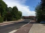 Bocht Bodegemstraat heraangelegd met juiste verkanting en comfortabele fietspaden