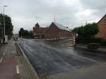 Aan de Begijnenborrestraat werd de verkeersplatteau al volledig verwijderd.