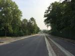 De Ijsbergstraat met gescheiden fietspaden.