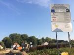 De werken aan het Dorpsplein in Bodegem gaan intussen verder...