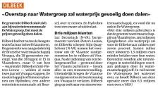 20170907 - HLN - Dilbeek naar Watergroep
