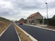 Doylijkstraat tijdens asfaltering