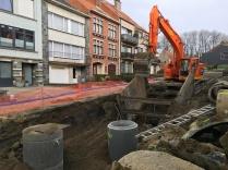 Nieuwe rioleringen in de Spanjebergstraat