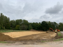 Nieuwe parking Lumbeekstraat in aanleg